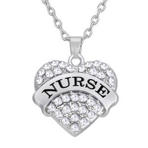 Jewelry - NURSE Necklace Clear Australian Crystal Heart New